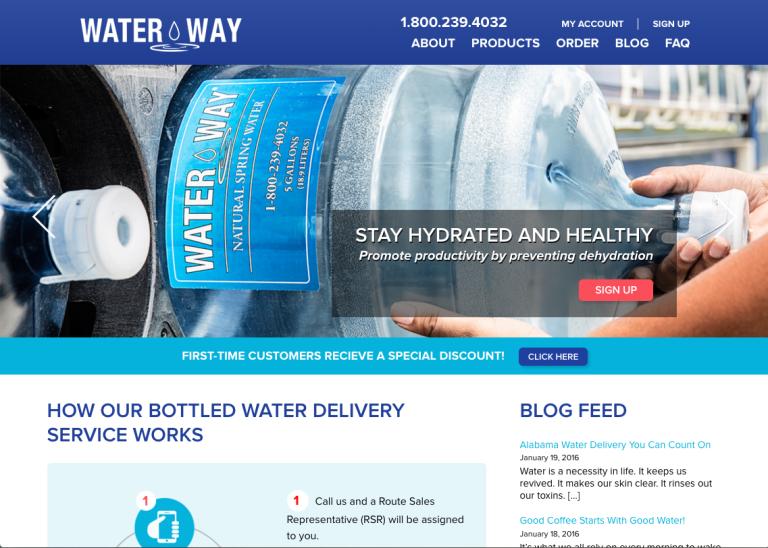WaterWay homepage