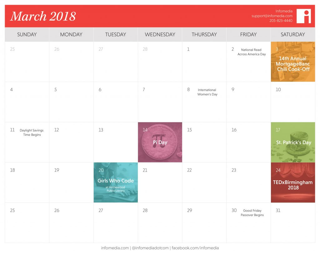 march calendar of events in birmingham